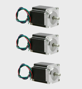 3PC NEMA23 Stepper Motor 1.9Nm 4A 2.4V 76mm length 23HS8440-23 flat shaft CNC