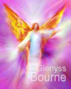 ARCHANGEL-Paintings-by-Glenyss-Bourne-5x7-inches-Set-of-9