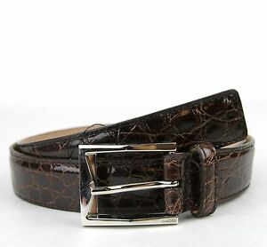 112b0db874b  850 NEW GUCCI Mens Crocodile Ostrich Belt with Classic Square ...