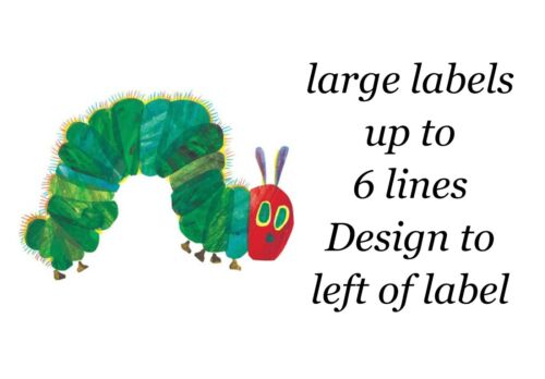 Very Hungry Caterpillar 48 Large Sticky White Paper Stickers Labels NEW