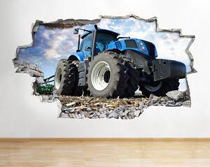 Tractor farm jungen bed tiere land wandaufkleber for Wandsticker 3d kinderzimmer