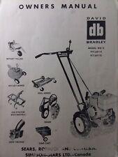Sears David Bradley Handiman Tractor Cultivatoramp Tiller Owner Amp Parts 3 Manual