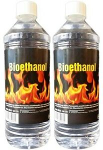 2 x 1 liter bioethanol 100 ethanol bio alkohol kamin ebay. Black Bedroom Furniture Sets. Home Design Ideas
