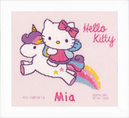 CROCE contato 1x Filo Stitch Nascita Record Kitty /& UNICORNO Strumento Per Cucire Craft