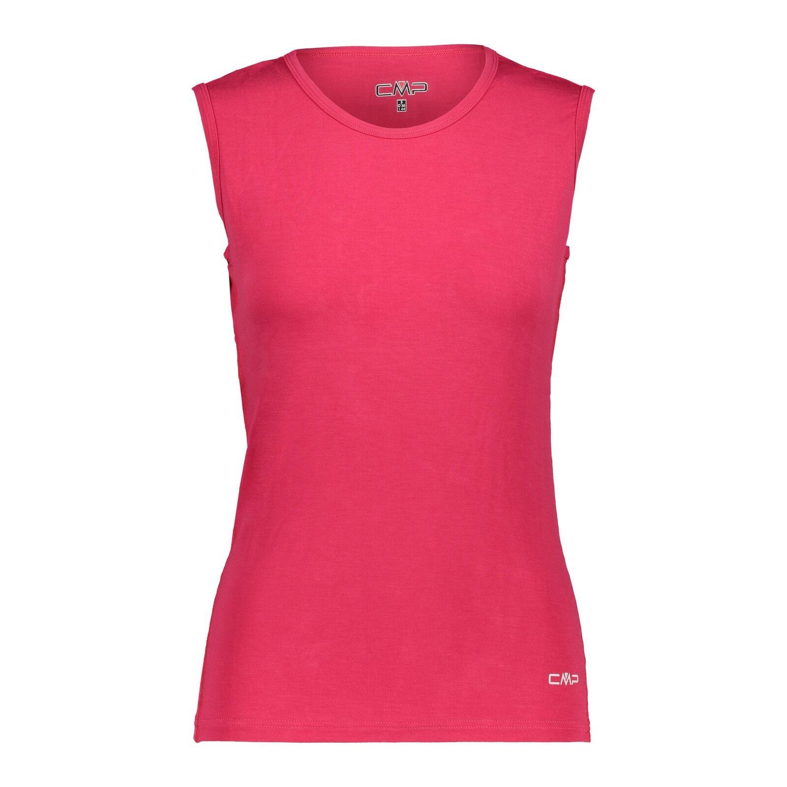 CMP Camisa Funcional Woman camiseta roja transpirable elástica colors lisos