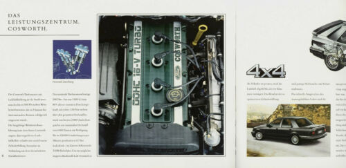 Ford Sierra 4x4 Cosworth Prospekt 1992 6//92 brochure Autoprospekt prospectus PKW