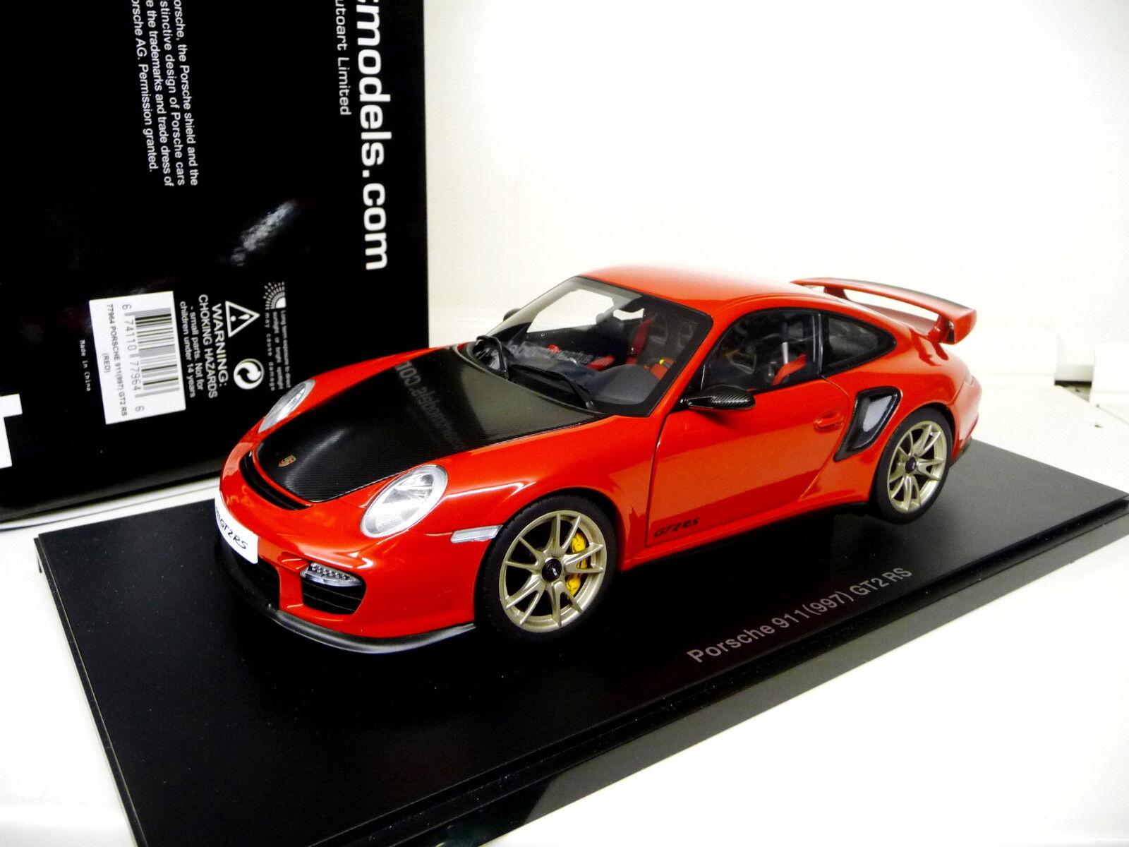Dans l'attente de de de la ville, retenant votre souffle 1:18 Autoart Porsche 911 gt2rs 997 Red Rouge Neuf New | Nombreux Dans La Variété  | Des Matériaux Supérieurs  | Soldes  429407