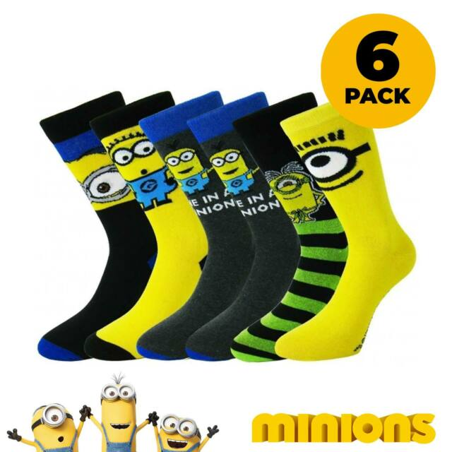 Official Despicable Me Minions Mens Ankle Socks Male Adult Minion UK 6-11