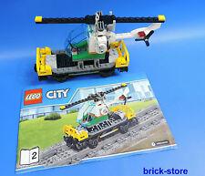 LEGO City / Ferrovia 60098 Carico pesante - Vagone con Elicottero