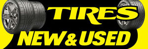 2ft x 6ft Used Tires (yb) Vinyl Banner 2'x6'  -Alt to Banner Flag  (57)