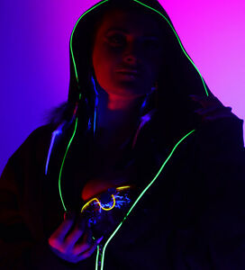 LED Sweater, EL Wire Hoodies, Party Novelty Light Up Clothing, Glow ...