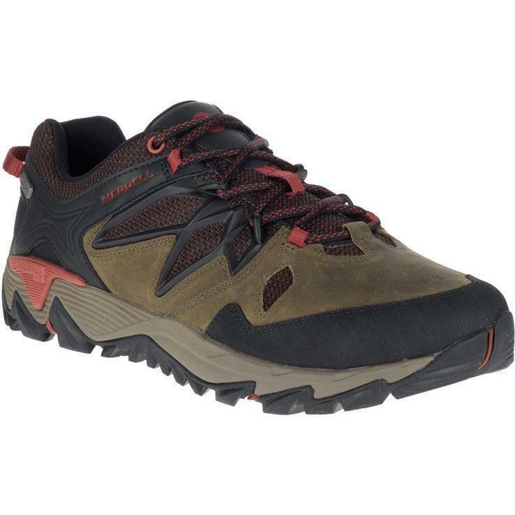NEW MERRELL ALL OUT BLAZE 2 MENS SHOES DARK OLIVE SNEAKERS HIKER FREE SHIP