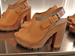 02ee01b0055 ZARA NEW WOMAN LEATHER SANDALS WITH TRACK SOLE EU 37 UK 4 US 6.5 Ref ...