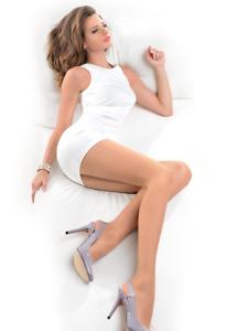 Gabriella Dita 15 Denier Tights Matte Lycra Pantyhose Nylons High Waist Satin