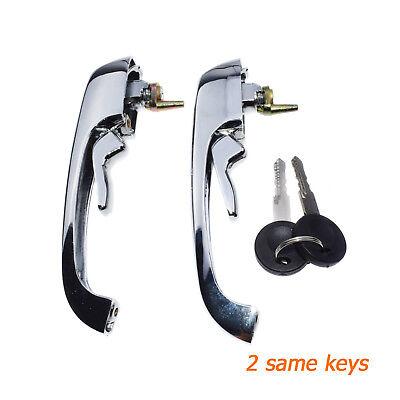 VW Bay Window Bus Exterior Door Handle Set With Keys 69-79  211837205N