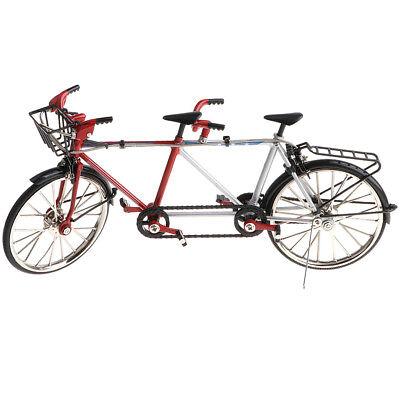 Diecast Fahrrad Tandem Bike Modell Replik Spielzeug Desktop Handwerk 1 10