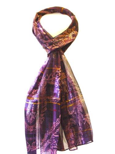 Womenl Ladies Long Printed Satin Stripe Scarf Stole Wrap Neck Tie Gift Scarves