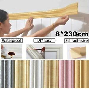 Waterproof Wall Sticker Home Wall Skirting Border 3D Self-Adhesive Sticker New