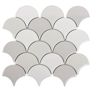 Modern-Circular-Grey-White-Porcelain-Mosaic-Tile-Backsplash-Kitchen-Wall-MTO0242