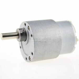 Image Is Loading 6v Dc 30rpm High Torque Gear Box Electric