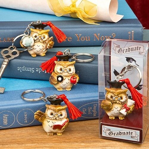 72 Wise Owl Graduation Keychain Party Gift Favors
