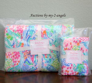 New Pottery Barn Kids Lilly Pulitzer Mermaid Cove Twin