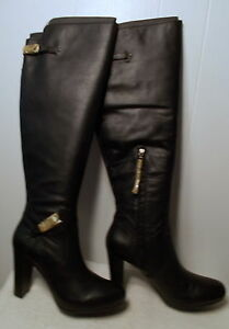 7ae66241aec NEW UGG Leather Boots ADYSON Tall Over Knee Black Women s Size 6.5 ...