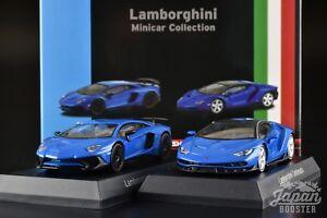 Kyosho 1 64 Lamborghini Centenario Aventador Sv Coupe Blue 2 Models