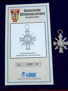 Goede-Abzeichen-Sachsen-Albrechtskreuz