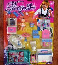 NEW~23PC Baby Play Set Girls/Boy Toy.Bathroom/bedroom/Furniture~Stocking Stuffer
