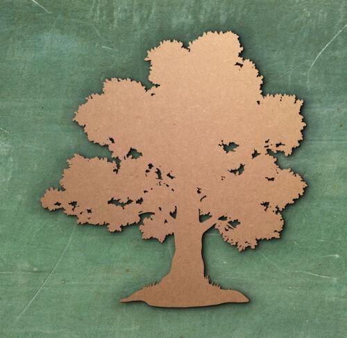 TREE LARGE LASER CUT MDF WOODEN SHAPE Wood Craft Arts Decoration Various Sizes.