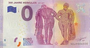 BILLET-0-EURO-300-JAHRE-HERKULES-ALLEMAGNE-2017-NUMERO-6000