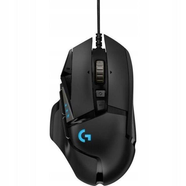 Logitech G502 High Performance Gaming-Maus HERO 16000 DPI Optisch RGB PC