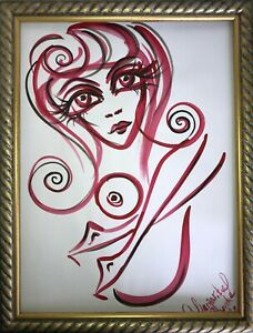 Margarita-Bonke-Malerei-PAINTING-erotic-EROTIK-FRAU-WOMEN-akt-nu-art-red-black-3