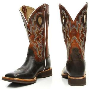 Georgia Mens 8 Low Heel Leather Boots Wild Bull Copper-G8044