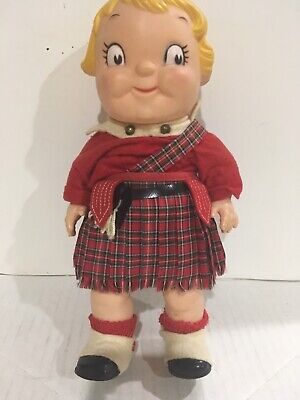 Vintage 1960 S Campbells Soup Kid Girl Doll Scottish Clothes Made In Usa Ebay
