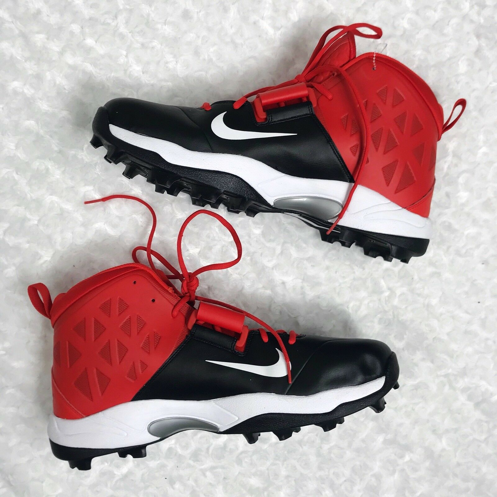 NWOB Nike 18 Mens Black & Red Zoom Code Elite Stove Shark Football Cleats Shoes Great discount