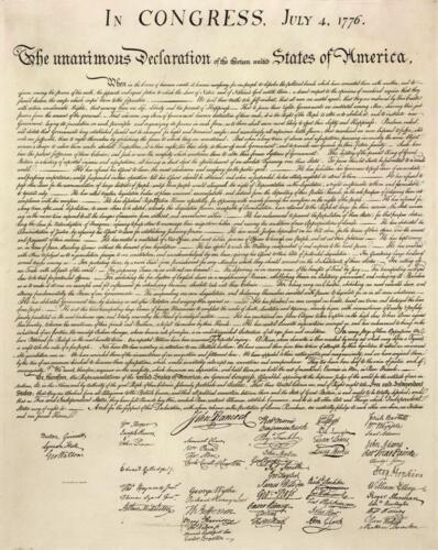 Declaration of Independence by Thomas Jefferson 28x22 Art Print Poster