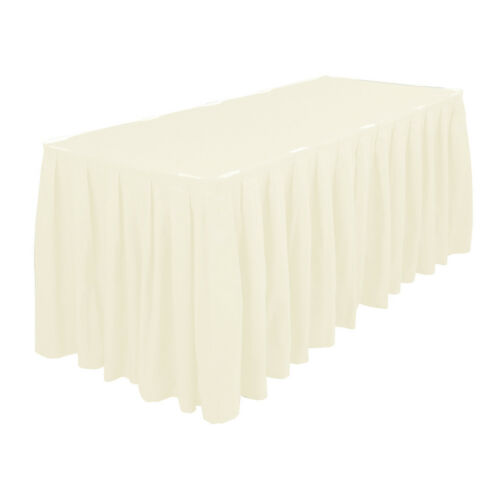 Polyester Table Skirt White Ivory Black For Parties Weddings Celebrations Events