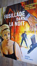 FUSILLADE DANS LA NUIT !  affiche cinema polar 1961