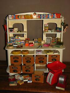 alter holz kaufladen kaufmannsladen mit beleuchtung und zubeh r ebay. Black Bedroom Furniture Sets. Home Design Ideas