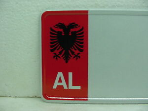 Albania Custom European Car License Plate Tag Mercedes Bmw Red Ebay