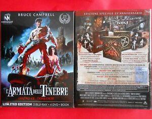 army of darkness l'armata delle tenebre 3 blu ray + 4 dvd + book limited edition