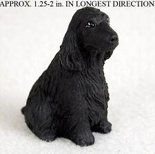 English Cocker Spaniel Mini Resin Dog Figurine Statue Hand Painted Statue Black