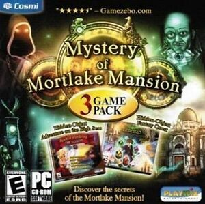 MYSTERY-OF-MORTLAKE-MANSION-3-GAME-PACK-Hidden-Object-Brand-New-Sealed