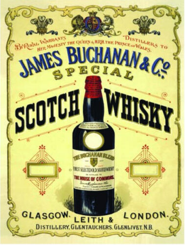 Small Metal Tin wall Sign Bar /& Restaurant Scotch Whisky James Buchanan Pub