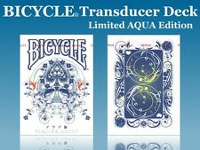 CARTE DA GIOCO  BICYCLE TRANSDUCER AQUA,poker size