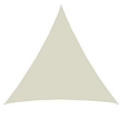 Schnelle Lieferung Sonnensegel Sonnenschutz Schatten Beige Dreieckig Uv-beständig 3,5 X 3,5 X3,5m