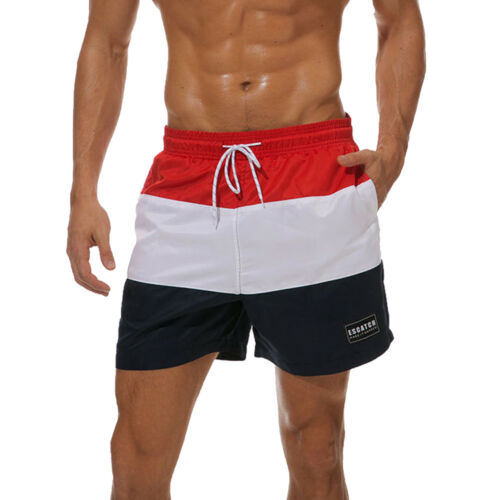 Men/'s Quick Dry Drawstring Waist Swim Trunks Board Shorts with Mesh Lining New