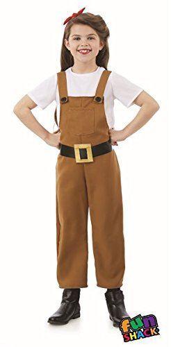 Filles Land Girl Costume 40 S 40 S WWII quarantièmes Fancy Dress Outfit